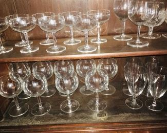 a selection of just some of the Baccarat fine crystal