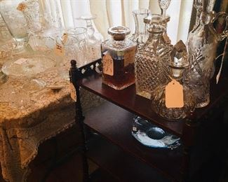 fine liquor and cut crystal decanters