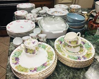 English bone china--many sets