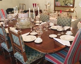 House is filled with fine crystal, sterling silver, beautiful antique china--