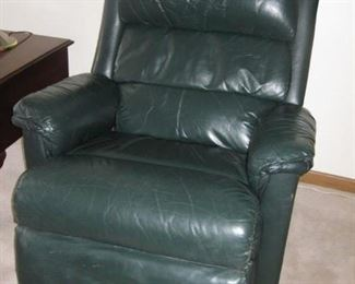 $150 - Green Leather recliner