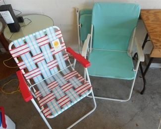 Lot of 3 Collapsible Beach Chairs - One New w/ Tags https://ctbids.com/#!/description/share/409690