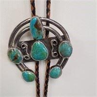 Gorgeous Turquoise Bolo Tie Necklace