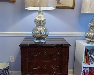 "#4	Laminate cherry look chest with 3 drawers 28""x17""x30""	 $25.00"
