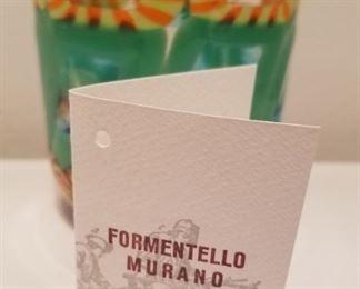 #6 Murano Art Glass Tumbler Eli Vetri D'Arte Formentello With Signed Provenance $85