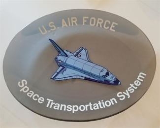 #3  US Air Force Space Transportation System Commemorative Glass Plaque $40