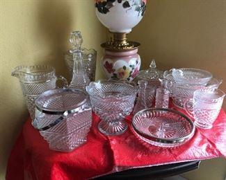 Wexford Diamond Cut Glassware - $20 / piece  or $300 / set