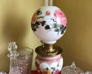 2 Bowl Vintage Lamp - $75