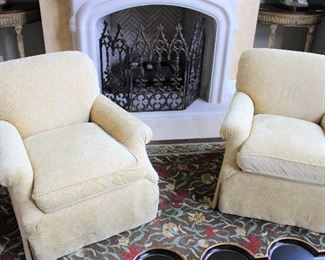"""#2/4/5/6/7/8-CENTURY ARMCHAIRS   (2)                             INDIVIDUAL CHAIRS ARE #4 & #5                                                                                    32"""" HEIGHT/36""""WIDE                                                                                             $375 EACH"""