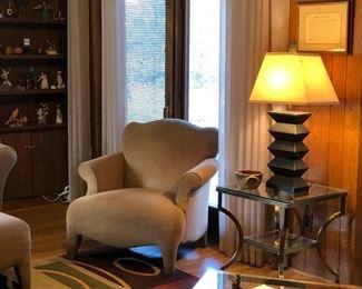 Chair with Companion Ottoman