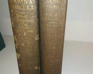 Varina Howell 2 volume set by erin rowland   $100 set