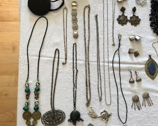 Loads of Sterling silver, turquoise, gold and costume jewelry.