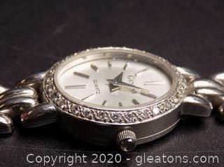 14K White Gold Geneve Diamond Watch