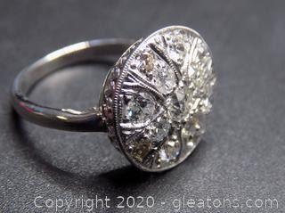 Unique 14K White Gold Diamond Ring