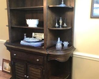 Matching open front china cabinet