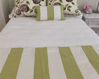 Bedding with matching headboard and matching skirt $150, now 50% OFF