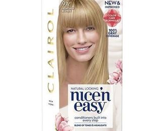 Clairol Nice'n Easy Permanent Hair Color - 9A Light Ash Blonde - 1 kit