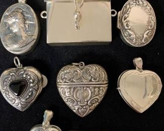 Sterling Lockets, boxes and clips https://ctbids.com/#!/description/share/415036