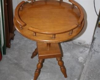 Small Round Rock Maple Table . . . Asking Price $15.00