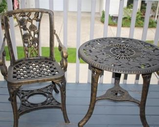Plastic-Metal looking Patio Pair . . . Asking Price $30.00