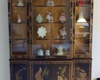 Dresden pieces in cabinet not for sale