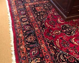 Extra Large Handmade Wool Area Rug ( approx 11 x 13) - Excellent Condition with hand-tied fringe $4000 -NOW ONLY $2500