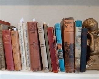 Vintage and variety of books date back to early 1900's