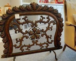 Vintage FIREPLACE SCREEN - French Design  - measurements - 36x34