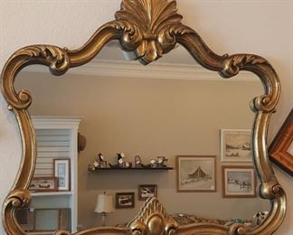 Ornate large mirror - dates back to 1950's