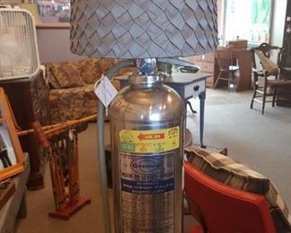 One of a kind - Fire extinguisher lamp