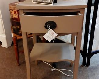 1940's Taupe nightstand