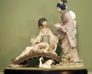 "Lladro ""Spring-Time In Japan"" Figurine, 12.5"" X 14"" X 6"""