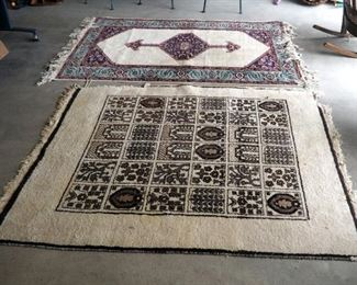 "Antique Persian Rugs Qty. 2, 73"" X 59"" And 84"" X 53"""