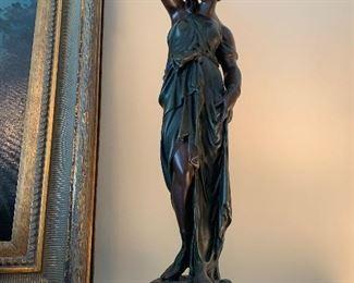 Lot V10, Athenian Figure With Vase, composite sculpture, $28
