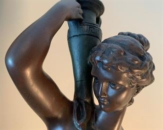 Lot V10 - Athenian Figure With Vase, composite sculpture, $28
