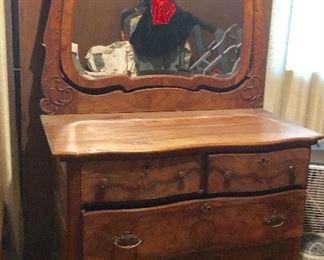 * Antique Mirrored  Dresser