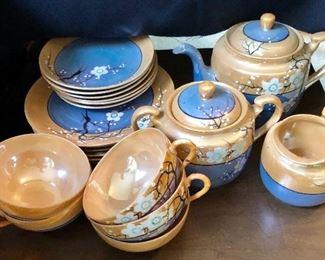 * Gorgeous Lusterware Tea Set Made in Japan