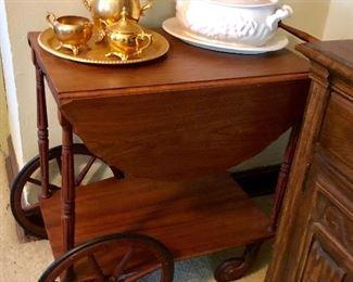 * Tea Cart, Gold Plated Tea Set and More     * Salt Pepper Shakers