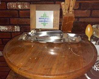 * Lazy Susan, Knives, Coasters and More