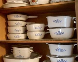 * Lots of Corning Ware and Other Cook Ware