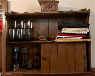 * Wall Cabinet and Glass Ware