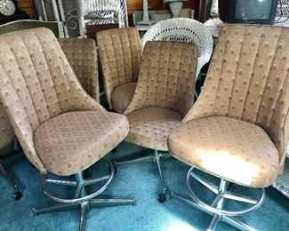 * Retro MCM Swivel Chairs and Bar Stools, Also have a Matching Round Table