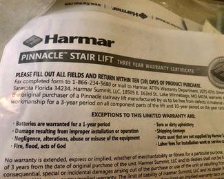 * Harmar Pinnacle Stair Lift - 2 Years Old