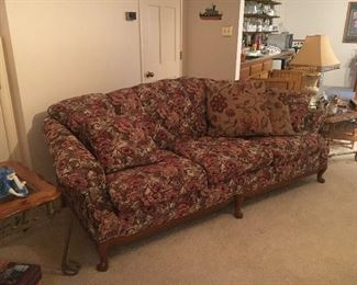 Vintage Couch with claw legs. No rips or tears great shape
