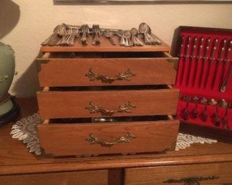 3 drawer silverware set