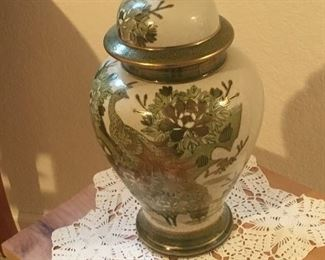 Asian glass vase