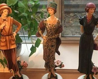 modern 1920s ladies figurines