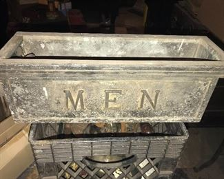 Art Deco double sided lighted Men's Room Sign $300