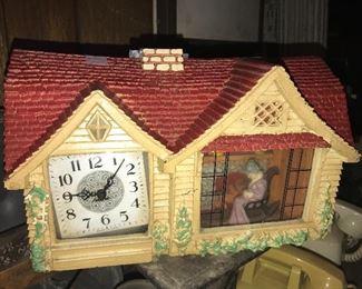 Haddon Home Sweet Home clock, as-is $25