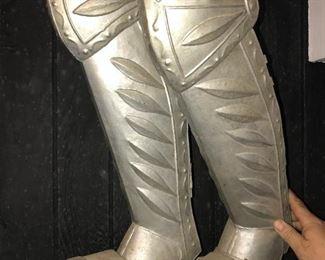Decorative metal Knights boots $30